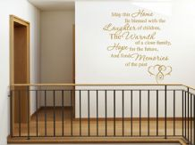 Wall Art Sticker, May This Home Be... Wall Art Quote, Decal, Modern Transfer